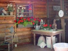 Wonderful Primitive Porch