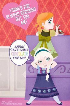 Love this one!!! Elsa & Anna are so adorable!! (Disney Frozen)
