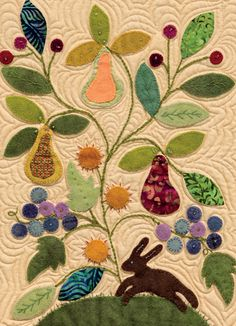 close up, My Enchanted Garden by Gretchen Gibbons baltimor quilt, martingal, appliqué, enchant garden, gardens, block, appliqu quilt, wool