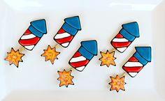 4th of July Rocket Cookies by @SweetSugarBelle {Callye Alvarado}