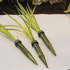 Fresh Arrangement Tips  Use florist water picks in the arrangement to keep blooms fresh. Also, these picks support stems that are too pliable to insert into florist foam.