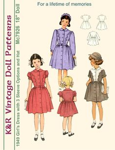 18 American Girl Vintage 1940's Dress by The2ndLifeMercantile, $6.00