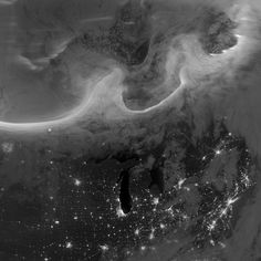 The October 8 aurora over North America as seen from space