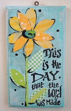 This is the Day Happy Art by kijsa on Etsy