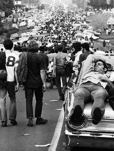 The road to Woodstock, 1969.
