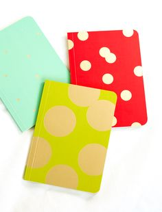 dotted journal idea...with gold leaf maybe + target journals? yes!!!