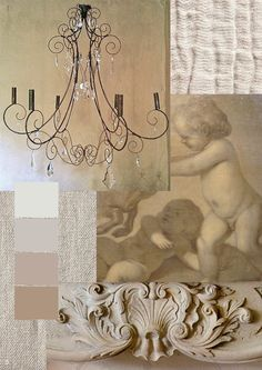Rustic French inspiration - cherubs, chandeliers and linen!