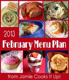 February Menu Plan from Jamie Cooks It Up! I love her recipes.