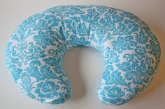 Turquoise damask nursing pillow cover--fits Boppy and other nursing pillows   #baby shower gift