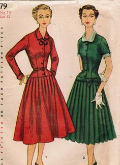1950s Simplicity dress sewing pattern