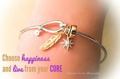 Choose happiness and live from your CORE.   #origamiowl #loveo2 #corecollection #feather #northstar