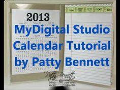 DIY 2013 calendars using My Digital Studio from Stampin Up
