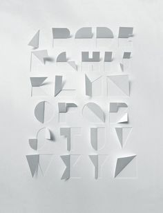 Paper Typography by Gina Hollingsworth #typography