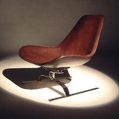 Koi Isola Brown Leather Swivel Chair http://www.koidesign.co.uk