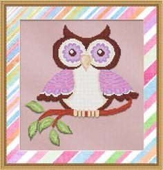 Purple Owl Cross Stitch