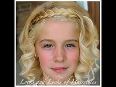 ▶ Celebrity Hairstyle tutorial: Julianne Hough Braided band with curls - YouTube