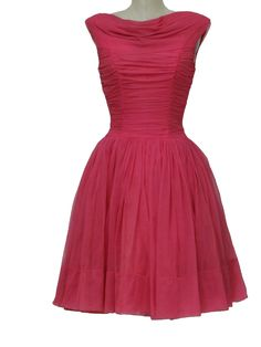 Pretty in Pink 50's vintage cocktail dress