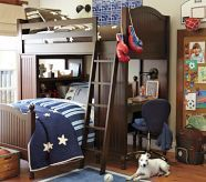 Bunk bed system - might fit over B's existing bed?