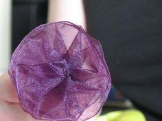 pleated organza or ribbon flower