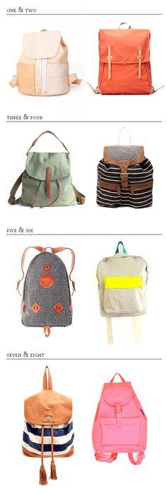 8 travel backpacks!