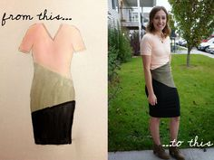 DIY Colorblock Dress