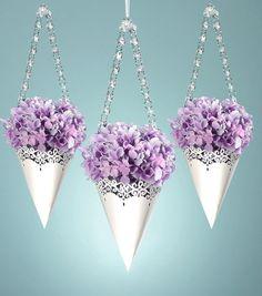 David Tutera Pearl Paper Cones for Wedding Ceremony