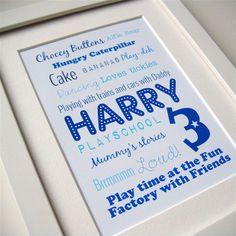 Birthday boy print