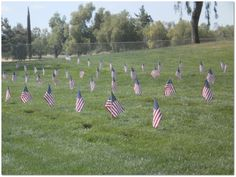 """Gravesite flags on Memorial Day honoring the veterans buried at Riverside National Cemetery in Southern California. Read more on the GenealogyBank blog: """"Remembering Our American Veterans on Memorial Day 2013."""""""