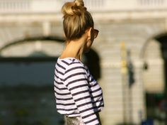 top, sunnies and hair