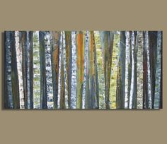 original tree landscape birch tree painting abstract epbot my bedroom redo reveal