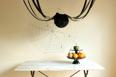 Project Nursery - DIY Halloween Decoration - Ceiling Spider #Halloween