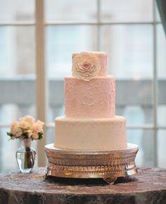 Simple wedding cake.