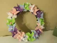 Cute Pinwheel wreath for spring