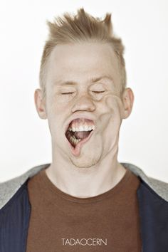 Blow Job by Tadao Cern, via Behance- 100 portraits of people with tornado force wind being blown in their faces