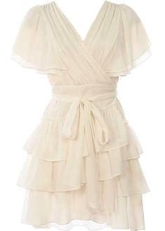 Blanc Wedding Dress | White Ruffled Wrap Dresses | Rickety Rack