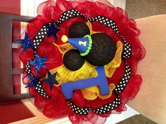 1st Birthday Mickey Mouse wreath