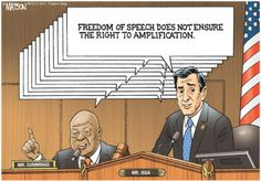 Freedom of Amplification? | Capitol Quip by R.J. Matson #politicalcartoons