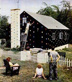 Polka dot house