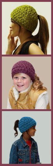 crochet crochet, long hair, told, hat