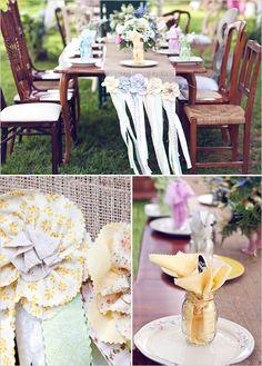 rustic table wedding decor