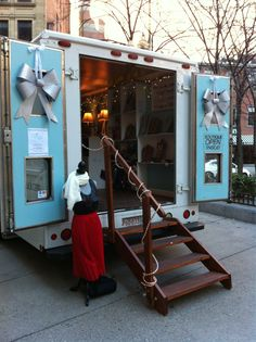 Mobile Pop Up Store -- Pop Up store on wheels- use the doors as display signage or for as  display!