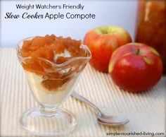 Crock Pot Apple Compote | Weight Watchers Friendly Recipes | 3 Points ...