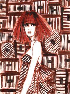 #IZAK #illustration #patterns #patternillustration #girl #TrafficNYC