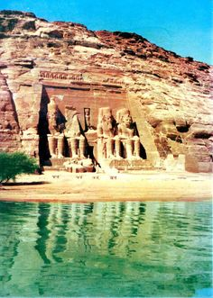 Abu Simbel Temple on Lake Nasser, Egypt