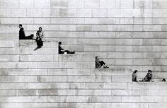afterthenight:  Diagonal Steps, Paris  Robert Doisneau, 1953