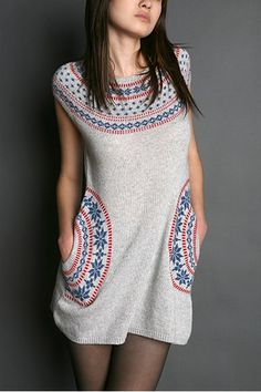 fair isle.  So, I just tried on a knitted dress at Forever 21 which was cute, but not super cute.  I have trouble buying clothing when I know I could probably make cuter clothing.