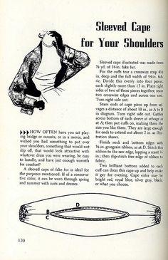 1950's Sleeved Shoulder Cape (Img)