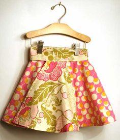 reversible toddler skirt tutorial