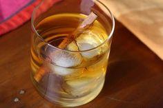 Kentucky maple leaf with bourbon and cinnamon