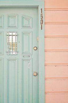 interior design, pastel, mint green, design homes, door colors, front doors, color combinations, cottage colors, hous